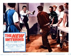 New Interns Lobby Card Starring Michael Callan and Dean Jones - 1964