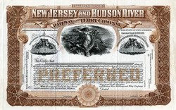 New Jersey and Hudson River Railroad and Ferry Company - New Jersey 1900
