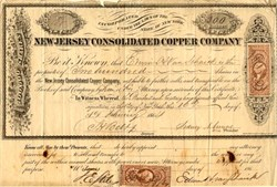 New Jersey Consolidated Copper Company - New York, 1864