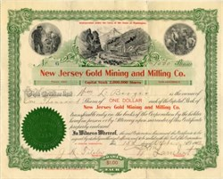 New Jersey Gold Mining and Milling Co.- Spokane, Washington 1902