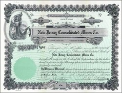 New Jersey Consolidated Mines Company 1928