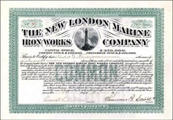 New London Marine Iron Works Company 1917 - Lighthouse Vignette