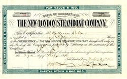 New London Steamboat Company - Connecticut 1896