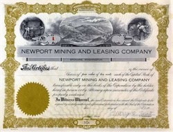 Newport Mining and Leasing Company 1920's - Spokane, Washington