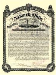 Newark Ohio Water Works Company 1885