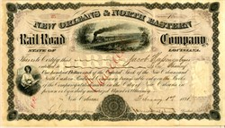 New Orleans & North Eastern Rail Road 1871 signed by CONFEDERATE GENERAL JAMES LONGSTREET