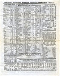 New Orleans Wholesale Antebellum Prices from Commercial Intelligencer and Merchants Transcript - Louisiana 1858