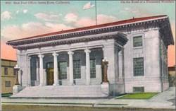 New Post Office, Santa Rosa, California Postcard