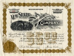 New State Mining and Milling Company -  Utah 1896