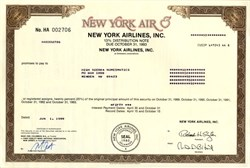 New York Airlines Inc.  (New York Air) - 1989