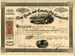 New York and Canada Oil Company - New York 1866