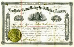 New York and Cauca Valley Gold Mining Company - New York 1879