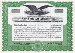 New York Art Alliance, Inc. (holography alliance for new artists) - 1974