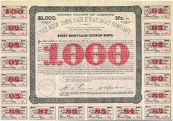 New York Cable Railway Company  ( Early Patent Trust  ) - New York 1884