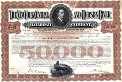 New York Central and Hudson River Railroad Company $50,000 Gold Bond - United States 1933