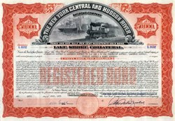 New York Central and Hudson River Railroad Company $50,000 Bond - 1973