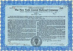 New York Central Railroad Company $5,000 - United States 1932