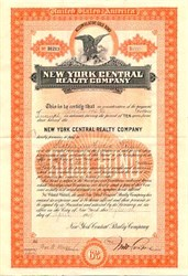 New York Central Realty Company ( Accumulative Gold Bond ) - New York 1909