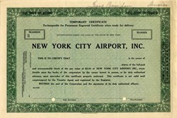 New York City Airport, Inc. - New York 1920s