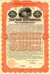New York Hippodrome (Original Construction Gold Bond)  - New York 1905
