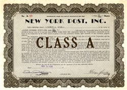 New York Post, Inc. - New York 1940