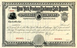 New York Produce Exchange Safe Deposit and Storage Company - New York 1909