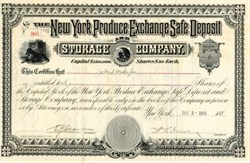 New York Produce Exchange Safe Deposit and Storage Company - New York 1908