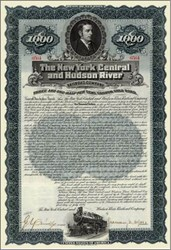 New York Central and Hudson River Railroad Company 1897 signed by Chauncey Depew