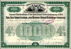New York Central and Hudson River Railroad Company 1895 - Gold Bond