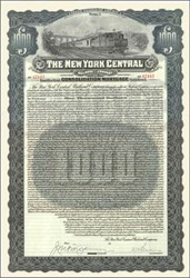 New York Central Railroad 1913 - 4% 85 Year Gold Bond
