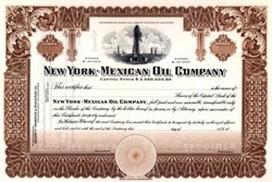 New York - Mexican Oil Company