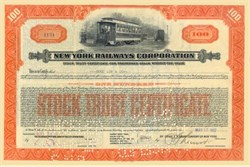 New York Railways Corporation 1927