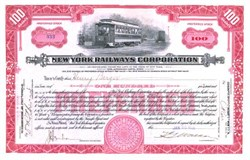 New York Railways Corporation 1920's -1930's - Early Trolley Vignette