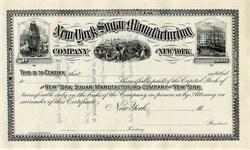 New York Sugar Manufacturing Company (Cuba Sugar)   - New York 1880