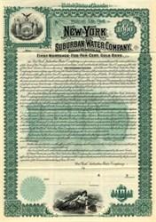 New York Suburban Water Company Gold Bond - Mount Vernon, New York 1895