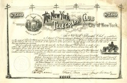 New York Telegraph Club SCARCE - New York 1890