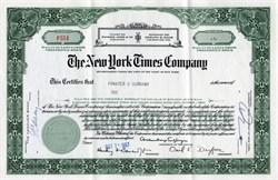 New York Times Company (Orvil E. Dryfoos as President)  - New York, 1957
