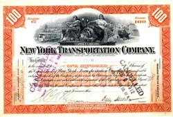 New York Transportation Company (Early electric car) - New Jersey 1906
