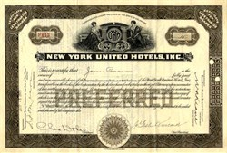 New York United Hotels, Inc. (Famous Roosevelt Hotel ) - New York 1925