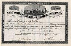 New York Veneer and Lumber Company  - New York 1884