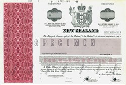 New Zealand Specimen Note - 1986