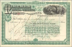 Niagara Mining and Smelting Company 1892 - Territory of Utah