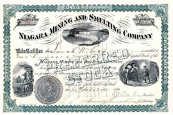 Niagara Mining and Smelting Company 1890 - Territory of Utah - Silver Dollar Corporate Seal