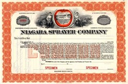 Niagara Sprayer Company - Rare Vignette of Apple Surrounding Niagara Falls