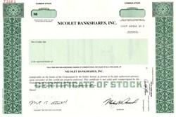 Nicolet Bankshares, Inc. - Wisconsin