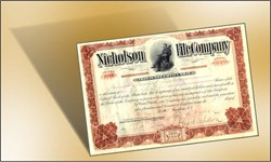 Nicholson File Company (Cooper Industries) 1907 - 1908 signed by Nicholson