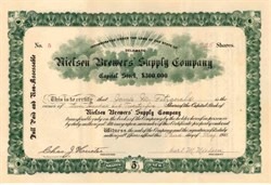 Nielsen Brewers' Supply Company 1911
