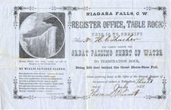 Niagara Falls Great Falling Sheet of Water - 1850