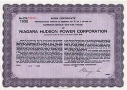 Niagara Hudson Power Corporation - New York 1933
