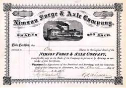 Nimson Forge & Axle Company 1875